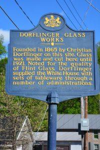 Dorflinger Glass Works Historical Sign